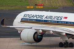Airbus A350-900 Singapore Airlines 9V-SMC MSN 031 (Guillaume Besnard Aviation Photography) Tags: eddl dus düsseldorf flughafendüsseldorf düsseldorfairport canoneos canoneos1dsmarkiii canonef500f4lisusm planespotting plane aircraft airbusa350900 singaporeairlines 9vsmc msn031 cn031 airbusa350