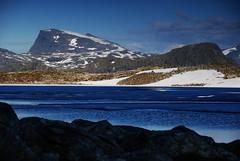 Lake Børtjønna, where the shadows lie (DoctorMP) Tags: norwegia norway norge moreogromsdal romsdal romsdalsalpene mountains rocks summer landscape lato góry skały hiking mannen alnesdalen børtjønna lake jezioro
