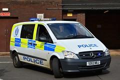 SD12 NRJ (S11 AUN) Tags: police scotland mercedes vito cell cage station van patrol panda car incident response vehicle irv 999 emergency sd12nrj
