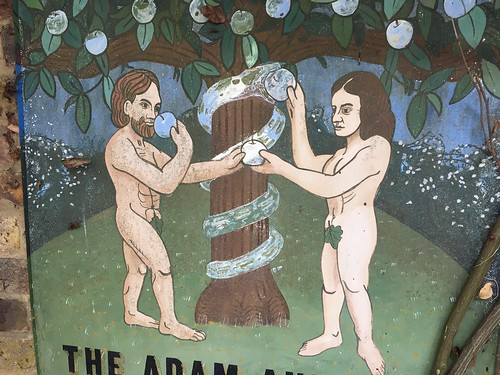 Adam and Eve pub sign