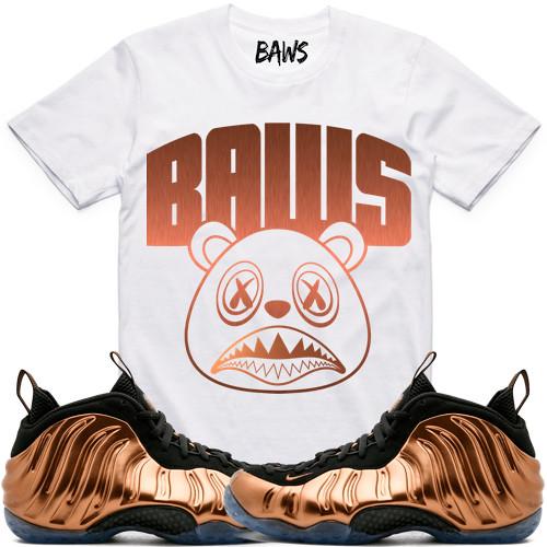 f5b22f5b8bb3 Copper Foamposites Foams sneaker tee shirts (XGEAR101) Tags  copper foam  foams foamposite foamposites