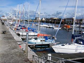 Fleetwood Marina, Lancashire, England, United Kingdom