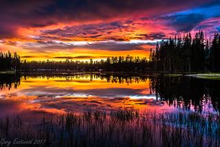 Sunset Wrights Lake Ca