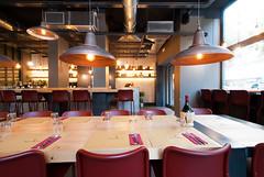 _DSC2059 (fdpdesign) Tags: pizzamaria pizzeria genova viacecchi foce italia italy design nikon d800 d200 furniture shopdesign industrial lampade arredo arredamento legno ferro abete tavoli sedie locali