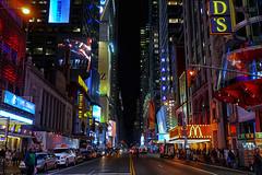 Forty Second Street (Gary Burke.) Tags: timessquare nyc ny newyorkcity newyork manhattan buildings icon landmark billboard architecture colorful theaterdistrict skyline travel traveling wanderlust skyscraper klingon65 gothamist garyburke 42edstreet fortysecondstreet midtown citylife ilovenewyork iloveny cityliving ilovenyc street city nycdetails tourism night evening streetphotography nycstreets citystreets building newyorklife nyctravel iheartnewyork urban sony a6300 mirrorless sonya6300