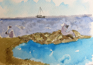 Menorca. Son Bou.Acuarelas. 09-17