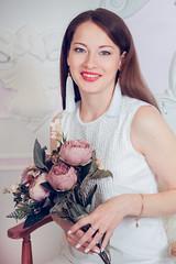 LOVE (truewonder) Tags: love baby mommy alisa sveta interior flowers happy lovely pretty white kiss doughter nice family