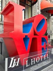 LOVE (travelontheside) Tags: love robertindiana montreal mtl quebec canada oldmontreal vieuxmontréal lhotel art sculpture publicart