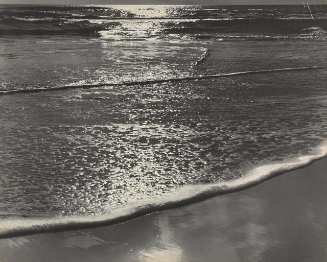 Carlotta M. Corpron (1901-1988) by 1qcur - Morning Light on the Ocean, ca. 1940-1950