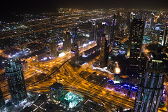 Night Lights (derekbruff) Tags: 125thfloor burjkhalifa dubai night view