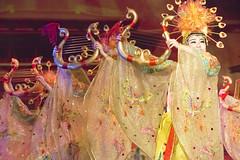 Tang Paradise_Dancing Girls_Xian_2014_BZ72 (Barry Zee) Tags: xian tangdynasty china silkroadtour 2014 silkroad2014 dancing girls with musical harps dancinggirls musicalharps nikon d800 7002000 mm f28 nikon70200mmf28vrii