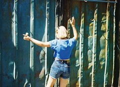 summer is not over yet (Lena Kanshyna) Tags: girl green summer sunny 35mm olympus onlyfilm olympusmju2 mju2 film filmphoto filmphotography ishootfilm analog analogue goldenhour ukraine urban kodakgold kanshyna kyiv