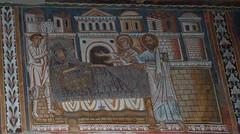Pietro e Paolo appaiono a Costantino e lo esortano ad affidarsi a Papa Silvestro - Oratorio di San Silvestro - Roma