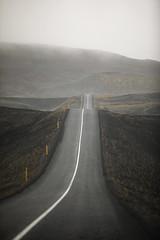 Into A Foggy Volcanic Landscape (wyojones) Tags: iceland thehighlandcenter hrauneyjar volcaniclandscape highlands hálendismiðstöðin mounthekla hecla stratovolcano ash basaltflows tephra highway paved fog rain mist landscape wyojones