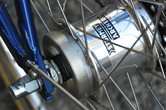 sturmey archer forever! (roland) Tags: bike bicycle hub sturmeyarcher spokes wheel outsiderevolver revolver revolvercoffee gastown vancouver