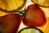 'Staying Healthy' [Explore] (Taken-By-Me) Tags: stayinghealthy fruit strawberry strawberries orange lime lemon green red yellow macro macromondays monday mondays close closeup takenbyme nikon light lights d750 catchy colours