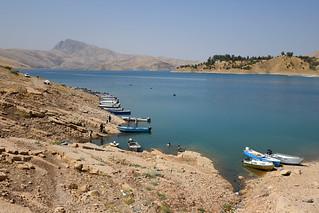 Colourful boats on Lake Dokan / Iraqi Kurdistan
