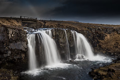 Rainbow bridge (Mika Laitinen) Tags: canon5dmarkiv europe iceland kirkjufellsfoss leefilters cloud color landscape nature outdoors rainbow river sky water waterfall westernregion is