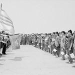 VIETNAM WAR 1973 - South Vietnamese Prisoners Saluting Flag thumbnail