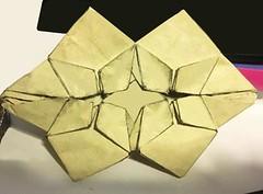Butterflies meet star tessellations 0.9 (o'sorigami) Tags: origami complex paper folding paperfolding butterfly kamiyasatoshi satoshi kamiya art tessellation