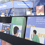 Lots of brochures in the Book Festival Entrance Tent