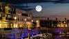 Full moon over the port of Zwenkau (christopherbischof) Tags: full moon fullmoon fujifilmxt2 fujifilm fuji hafen marina zwenkau leipzig lights lake kapzwenkau sonnenuntergang sunset sundown bluemoon segelboot segelboote ship sailboat art artphotography