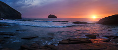 Trebarwith Strand Beach (timmb15) Tags: trebarwithstrandbeach cornwall sunset beach seascape cloudsstormssunsetssunrises