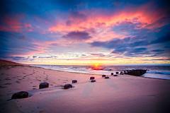 Sunrise (Joe_R) Tags: bayheadvacation hdr beach jetty sand ocean sunrise vibrant 6d canon rokinon