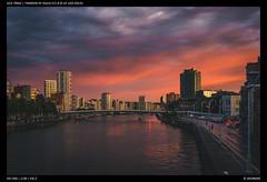 Evening Walks (Falcdragon) Tags: tamron35mmf18sp sonya7riialpha ilce7rm2 liège belgium evening light sunset water river meuse cityscape sky clouds