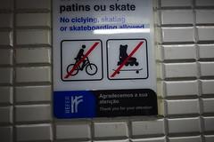 no ciclying (Vélogo) Tags: portugal gare interdiction