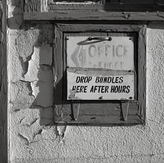 Baker City, Oregon (austin granger) Tags: bakercity oregon evidence sign time decay impermanence bundles office laundry square film gf670