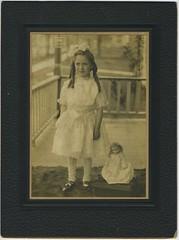 1909 or so - Thelma [Yenna] Flora w doll