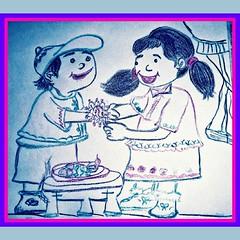 IMG_20170807_154301_518 (laxmideep) Tags: series rakhi happy cartoon work marie paddu