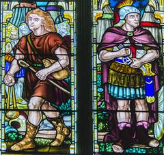 Warwick, St Mary's church, Window detail (Jules & Jenny) Tags: stainedglasswindow warwick stmaryschurch