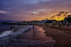 Cannes Beach (mirko.borgmann) Tags: cannes la croisette vatation holidays beach sunset lights nature water sky landscape blue red portrait night