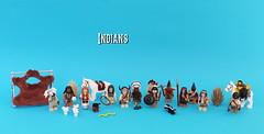 Indians - Figbarf (noggy85) Tags: lego moc indians figbarf indianer horse pferd snake schlange skunk stinktier blue blau wildwest wilderwesten nativeamericans ureinwohneramerikas speere speer axt tomahawk scorpion skorpion minifigs minifiguren