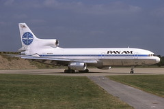 N509PA LGW 2-8-1981 (Plane Buddy) Tags: n509pa lockheed l1011 tristar 500 pan am gatwick lgw