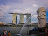 Singapore Merlion and Marina Bay Sands in the background, Singapore (CamelKW) Tags: singapore2017 singaporemerlion marinabaysand singapore