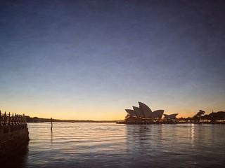 Opera House texture at sunrise