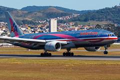 N759AN (rcspotting) Tags: n759an boeing 777200 american airlines gru sbgr a proud sponsor susan g komen for cure