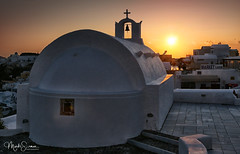 Oia sunset (marko.erman) Tags: oia santorini cyclades thira island caldera volcano crater slope steep village white houses whitepainted sony perspective scenic beautiful travel popular greece sea water clouds sky entanglement blue hour church