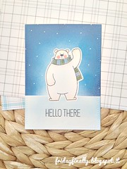 hello there MFT card (fridayfinally) Tags: myfavoritethings polarbearspals copicmarkers copic copics dienamicsicebergs distressink campcreate bears ice winter winterscene winterseason fishes skating scarf critters cutebackground cute clearstamps crittersparty celebrate cleanandsimplecard cardmaking coloring card cutescene love lovely lawnfawnplaidpaper thinkingofyou hellocard hello lightblue loveyoucard whitegelpen blue white polonord orsetto