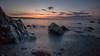 Sea mist... (in explore) (Lee~Harris) Tags: sunrise sun orange glow rocks sea water rugged morning autumn england longexposure coast landscape g80 light shade ocean rock sky contrast magical tranquil serene