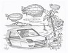 Lake Van (rod1691) Tags: bw scifi grey concept custom car retro space hotrod drawing pencil h2 hb original story fantasy funny tale automotive art illistration greyscale moonpies sketch