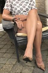 MyLeggyLady (MyLeggyLady) Tags: thighs teasing hotwife milf secretary sexy leather miniskirt crossed cfm stilettos pumps heels legs