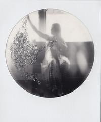 falling stars (Lisa Toboz) Tags: impossibleproject polaroid blackandwhite glitter mixedmedia 1212project jody spiritphotography magic exquisite analog