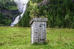 Outhouse (Kjetil ) Tags: huldefossen førde norge norway utedass outhouse outdoor toilett utedo nature waterfall canon eos 500d platinumheartaward