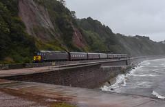 Well that was a waste of time. (Teignstu) Tags: teignmouth devon seawall railway railtour wcrc class57 57314 theroyalduchy