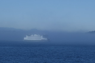 Ferry in the fog
