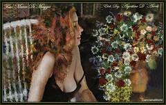 Donna con fiori - Settembre - 2017 (agostinodascoli) Tags: art digitalart digitalpainting photoshop photopainting texture donna modella fiori marcodimaggio agostinodascoli colore impressionismo fullcolor